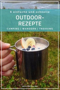6 einfache und schnelle Camping Rezepte für Outdoor & Trekking Touren. Unsere liebsten Outdoor- und Camping Rezepte für den Gaskocher. Ideal für lange Trekking- oder Wander-Touren sowie Camping Trips. Camping Ideas, Camping Checklist, Camping With Kids, Family Camping, Camping Hacks, Camping Recipes, Camping Trailers, Camping Cooking, Camping Essentials