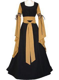 Hedwig Black-Saffron dornbluth.co.uk - medieval dresses