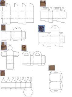 Moldes para hacer cajas de papel corrugado