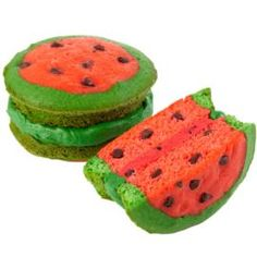 A sweet slice of summer, these watermelon-inspired whoopie pies take shape with the Wilton 12-Cavity Whoopie Pie Pan.