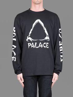 Palace Skateboards long sleeved tee with shark print #palace #palaceskateboards