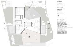 Image 51 of 59 from gallery of House in Hauterive / bauzeit architekten. Exhibition Room, Small Courtyards, Glass Facades, Relaxation Room, Ground Floor Plan, Old Building, Architecture Plan, Plan Design, House 2