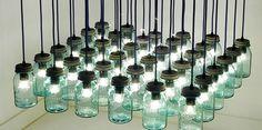 Lámparas creadas a partir de botes de cristal #design