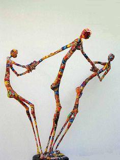 http://www.glabik.fr/  Jean-François Glabik  nous offre une bolée d'air frais et de sourires avec ses personnages filiformes, mélange de fil...