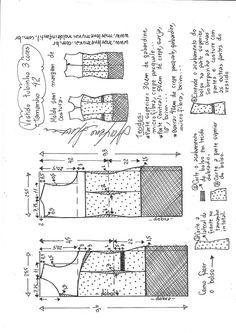 Sukienka tuba 3 kolory - DIY - forma, krój i szew - Marlene Mukai Dress Making Patterns, Easy Sewing Patterns, Doll Clothes Patterns, Sewing Clothes, Clothing Patterns, Techniques Couture, Sewing Techniques, Pinafore Pattern, Plus Size Sewing