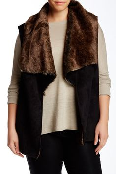 Faux Shearling Vest (Plus Size) by Bagatelle on @nordstrom_rack