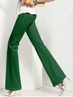 Ericdress Cotton Blends Wide Leg Pants Pants