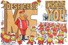 Zapiro: 'Despicable Me' - The Mail & Guardian Despicable Me, Stunts, Cartoons, Politics, African, Cartoon, Waterfalls, Cartoon Movies, Comics And Cartoons