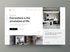 Typography UI — Project 57 by Juraj Masar on Dribbble Minimal Web Design, Clean Web Design, Web Ui Design, Flat Design, Design Design, Website Design Inspiration, Best Website Design, Website Designs, Layout Inspiration