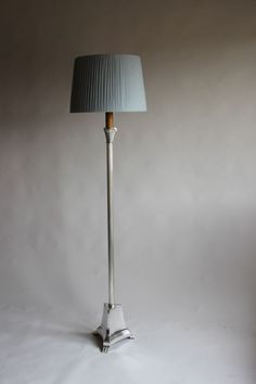 Silver plated hoof foot  floor lamp