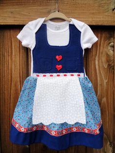 612 Month German Baby Dress Oktoberfest by adasaccessories4me, $36.00