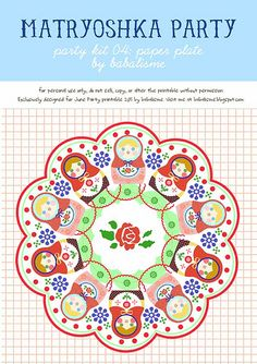 Complete set of Matryoshka party printables - FREE!