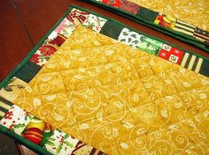I like this placemat quilt pattern