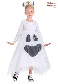 90s Halloween Costumes, Ghost Costumes, Tutu Costumes, White Tights, Layered Skirt, Our Girl, Fashion Forward, Flower Girl Dresses, Ghosts