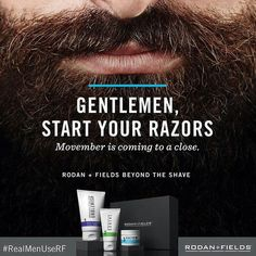 No shave November is coming to an end! Contact me to order your Beyond the Shave Regimen and shave smarter!