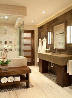 Today's Popular Interior Design Photos - Bathroom Collection Live Love in the Home Dream Bathrooms, Beautiful Bathrooms, Bathroom Spa, Master Bathroom, Modern Bathroom, Bathroom Ideas, Bathroom Designs, Basement Bathroom, Houzz Bathroom