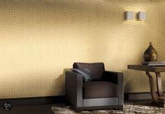 21euro/m2 Dutch Wallcoverings Behang Golfprint - Goud