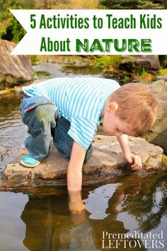 Kids are naturally curious, so getting them engaged in nature is easy. Explore the outdoors together with these 5 Activities to Teach Kids About Nature. Outdoor Activities For Kids, Nature Activities, Outdoor Learning, Camping Activities, Science Activities, Educational Activities, Outdoor Play, Teaching Kids, Kids Learning
