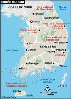 Carte coree-du-sud détaillée
