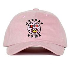 Cherry Bomb Fashion Baseball Cap Muan Company Cap43 ($25) ❤ liked on Polyvore featuring accessories, hats, baseball hats, baseball caps hats, baseball cap, pink baseball cap and ball cap hats