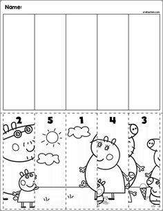 peppa pig Preschool worksheets to help your little one develop early learning skills. Try these preschool worksheets to help your child learn about letters, numbers, and more. Preschool Learning Activities, Free Preschool, Preschool Activities, Kids Learning, Cutting Activities, Learning Skills, Early Learning, Numbers Kindergarten, Numbers Preschool