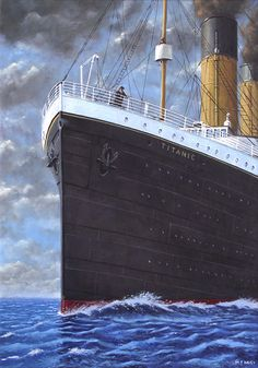 Titanic at sea full speed ahead_art print. Art print form an oil painting by UK artist Martin Davey showing the 'Titanic' at full speed. The print comes either fully framed or rolled up for you to frame. Rms Titanic, Titanic Boat, Titanic History, Titanic Cake, Historical Romance, Historical Photos, Southampton, Famous Marines, Modern Photographers