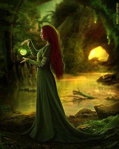 "create-tivity: ""Sorcery"", Fantasy Digital Art by Mirella Santana ]]> Elfen Fantasy, World Of Fantasy, Mythical Creatures, Fantasy Characters, Dnd Characters, Game Of Thrones Characters, Fictional Characters, Wiccan, Enchanted"