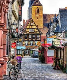 Quedlinburg, Germany Photo: @stephsche #quedlinburg #architecturelovers #kings_villages #deutschland...