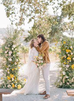 Romantic Vintage Boho Wedding Photography From An Elegant California Vineyard Wedding Photo Shoot  #ElegantWeddingPhotos #WeddingPhotography #VintageBohoWedding #VintageBohoWeddingFlowers #RomanticVintageBohoWedding
