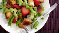 Strawberry Panzanella Salad from PGEW. Only $1.75/serving!