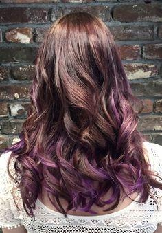 Purple balayage by Imke --> Salon du Trezo.