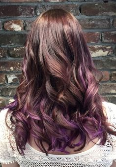 Purple balayage by I
