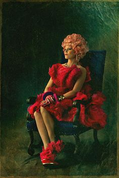 """It's here! See a still of Effie Trinket all dressed up for """"Hunger Games: Catching Fire."""""""