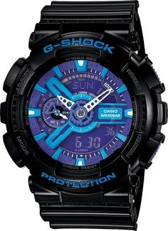 639b58bec6f Casio Men  G-Shock Black and Red Multi-Function Digital Watch
