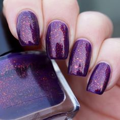 Lacquester Dragon Heart. Maybe I can layer my ILNP flakies over purple and get a similar result?