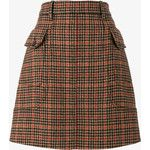 Prada Houndstooth A-Line Midi Skirt
