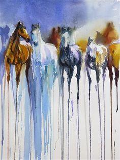 "Daily+Paintworks+-+""horses""+-+Original+Fine+Art+for+Sale+-+©+Beata+Musial-Tomaszewska"