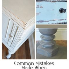 Common Mistakes Made When Distressing