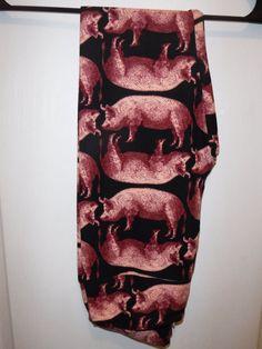 LuLaRoe Leggings - Pigs - NWOT - RARE - UNICORN - One Size OS #LuLaRoe