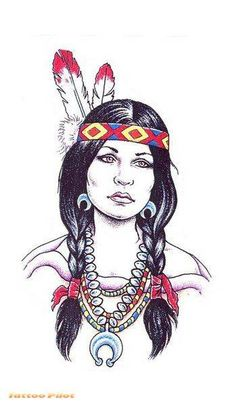 Want this Native American princess on my left thigh with my grandma's face instead. <3
