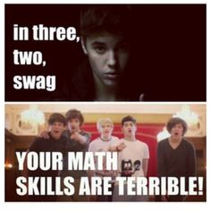 One direction <3. Take that Justin! *One direction is the only band that would make a parody of their own song*