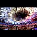 Fireworks at the Olympics in London 2012