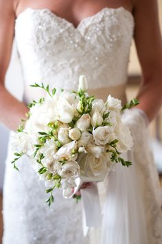 Lisianthus & rose wedding bouquet