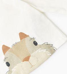 Image 4 de T-shirt organique écureuil de Zara