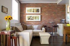 Like the urban feel of interior brick. Interior Brick Walls Design Ideas, Pictures, Remodel and Decor