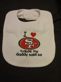 I love San Franciso 49ers 'cause my daddy said by handmadehairbows, $12.00