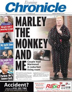 A good headline, a good picture, and a remarkable story. Lets face it, a court picture of someone in apparently their pjs is always going to work: http://www.chroniclelive.co.uk/north-east-news/evening-chronicle-news/2012/02/13/pair-kept-marmoset-monkey-in-low-fell-living-room-72703-30320871/