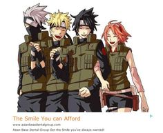 Let's forget what is written at the bottom. Kakashi,Naruto and Sasuke look so sexy and happy together