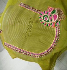 Peacock Blouse Designs, Best Blouse Designs, Wedding Saree Blouse Designs, Simple Blouse Designs, Stylish Blouse Design, Blouse Neck Designs, Aari Embroidery, Hand Embroidery Videos, Hand Work Embroidery