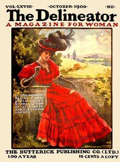Delineator Fashionable Lady October 1906 JW